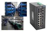 China 4 gigabit SFP ports and 18 megabit ethernte ports unmanaged industrial switch No fan factory
