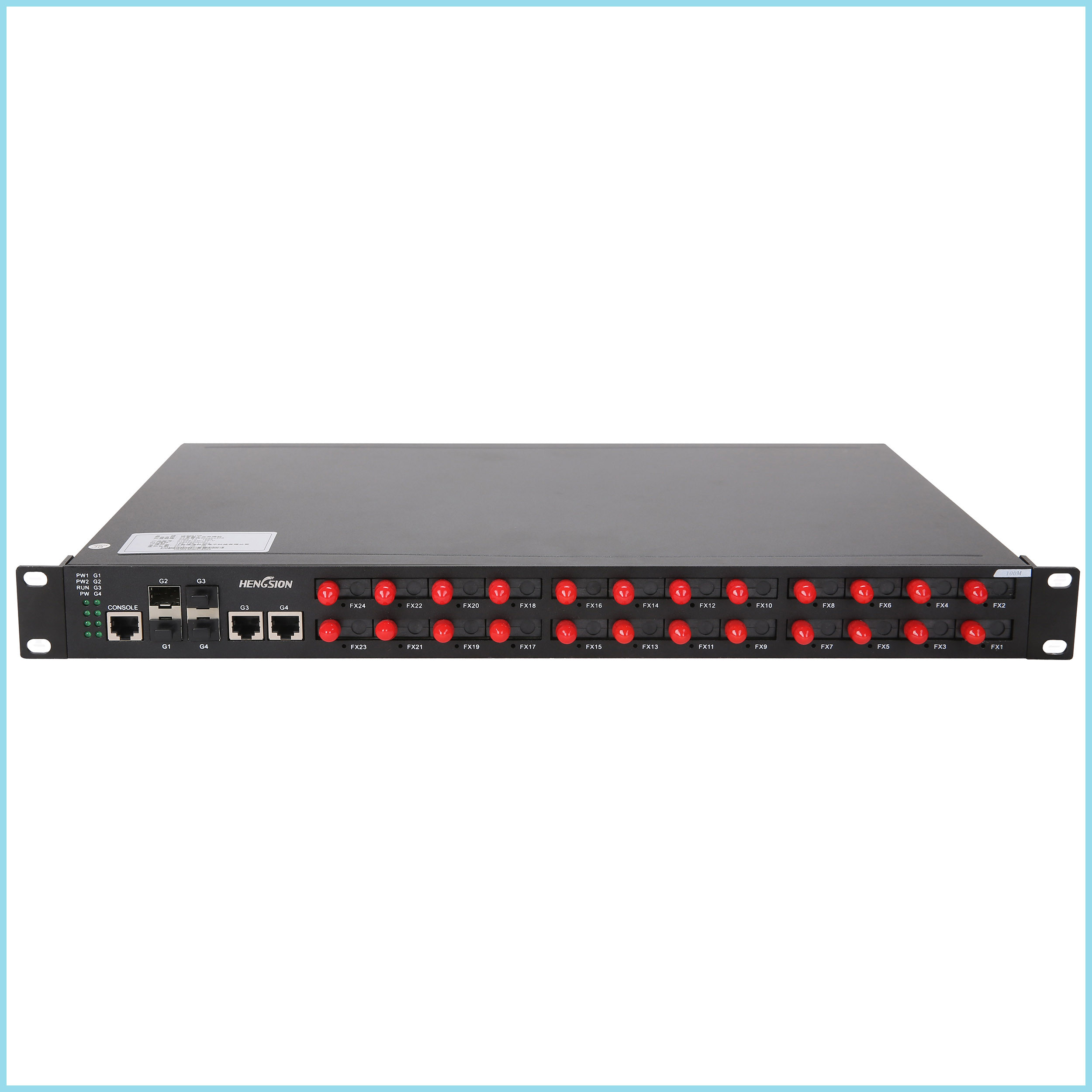 Full duplex wide switching bandwidth Unmanaged 28 port Switch 19.6Gbps rackmount ethernet switch