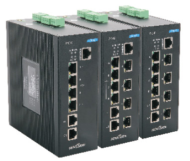 No fan design low consumption Industrial POE Switch 8 100M T(X) POE + 2 100/1000M TX port wide band
