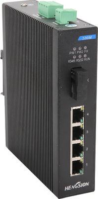 Industrial Ethernet 5 port Network Switch 4 Megabit TX & 1 Megabit FX poe gigabit switch