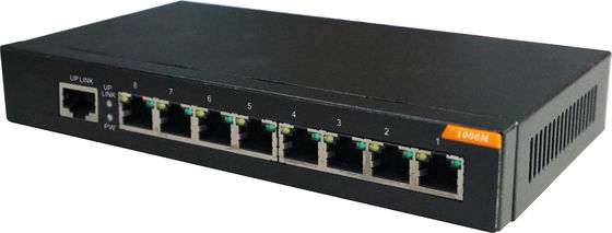8 port unmanaged gigabit switch , 8 gigabit RJ45 port ethernet switch 196KB Buffer Memory