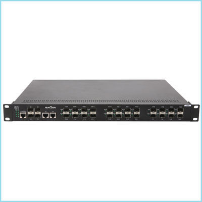 "Industrial gigabit switch 28 port 24 * 100 Base SFP FX + 4 * 1000 Base TX , 19"" 1U metal casing fast ethernet switch"