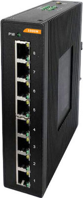 High Reliability 8 port Industrial Gigabit ethernet switch IP40 Outdoor network switch